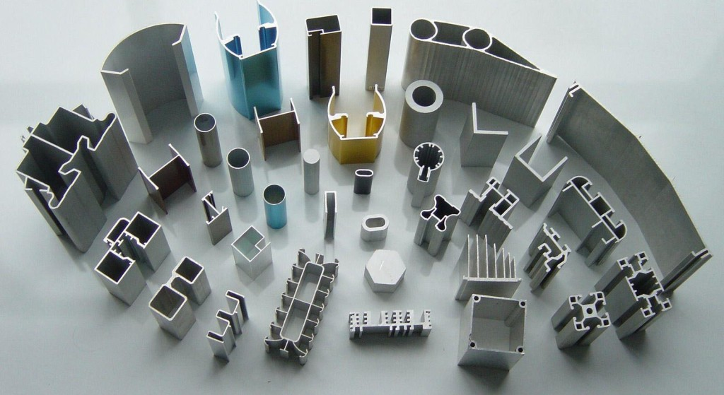 Standard Extruded Aluminum Shapes Made with the Extrusion Process